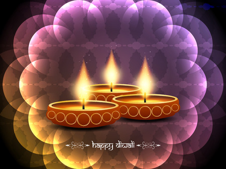 colorful background design for Diwali festival Vector