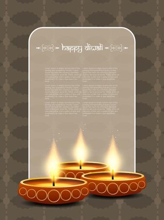 colorful background design for Diwali festival Vector