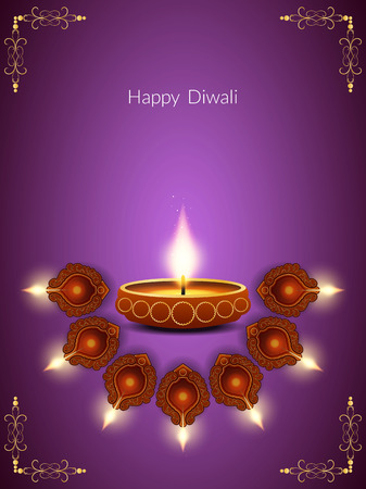Elegant Diwali festival background design Vector