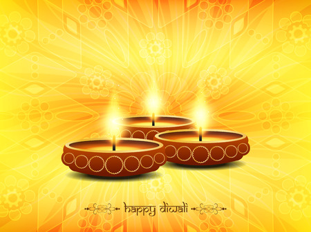 diwali celebration: Elegant Diwali festival background design Illustration