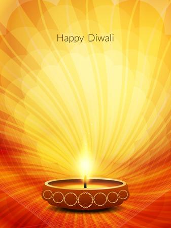 diwali: Elegant Diwali festival background design Illustration