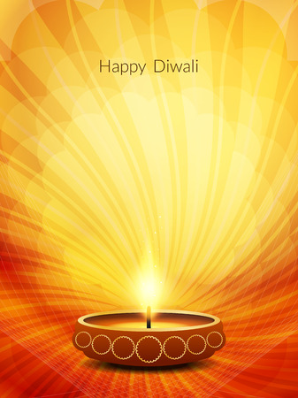 religious backgrounds: Elegant Diwali festival background design Illustration