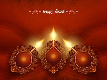 Elegant Diwali festival background design Vector