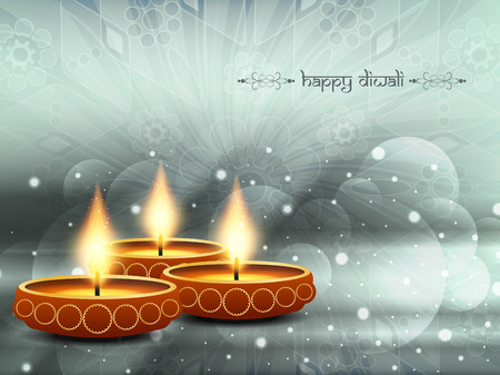 beautiful vector background design for Diwali festival. Ilustracja