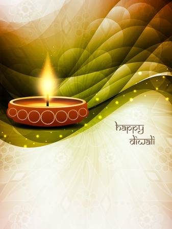 beautiful background design for Diwali festival. Vector
