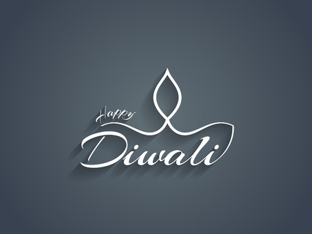 Beautiful Happy Diwali text design. Vector