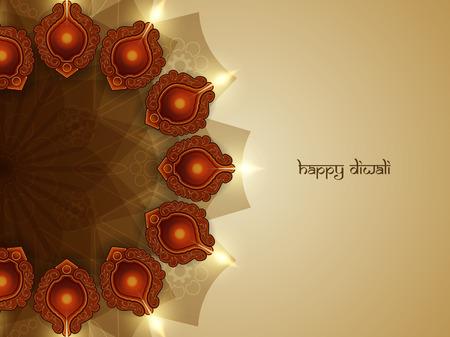 diwali greeting: Happy Diwali background design. Illustration