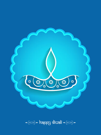 Happy Diwali background design. Vector