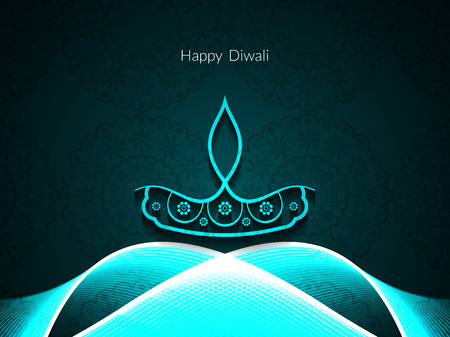 indian god: Happy Diwali background design. Illustration