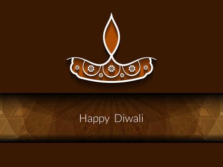 Happy Diwali background design. Vector