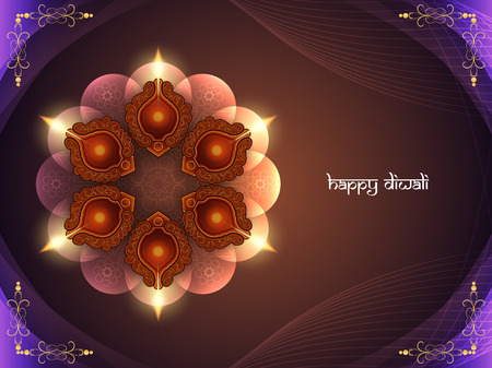 diwali celebration: Happy Diwali background design. Illustration