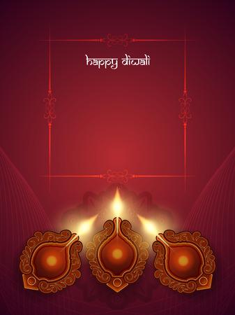 Happy Diwali background design. Çizim
