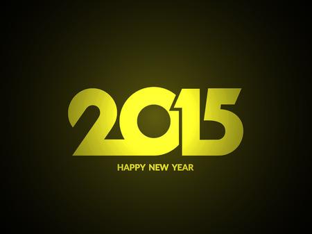 year january: Shiny happy new year 2015 text design background.