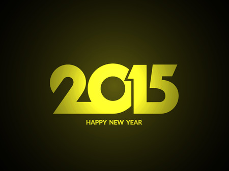 Shiny happy new year 2015 text design background.