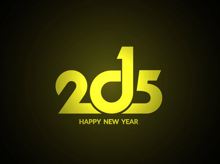 happy new year text: Shiny happy new year 2015 text design background.