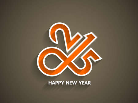 Beautiful vector happy new year 2015 text design. Vector