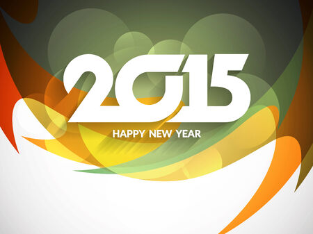 Colorful happy new year 2015 background design. Vector