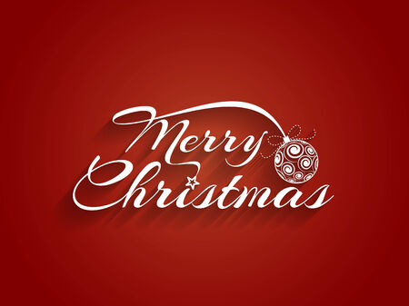 Beautiful text design of Merry Christmas Vector