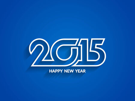 happy new year text: Beautiful vector happy new year 2015 text design.