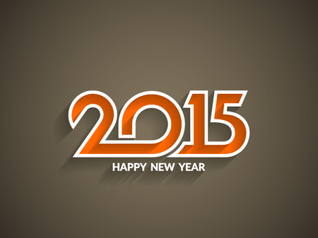 happy new year text: Beautiful text design of happy new year 2015.