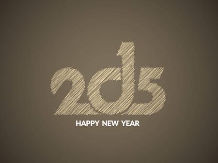 sketch pattern: Nuevo dise�o de texto Hermosa feliz a�o 2015 en el patr�n de boceto.