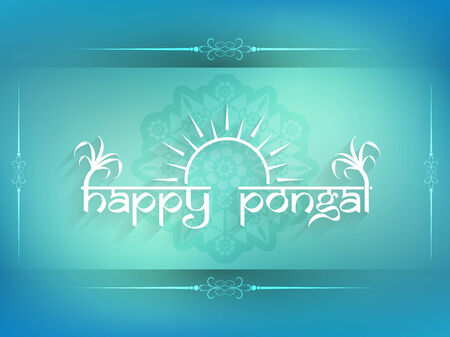 Elegant background design of Happy Pongal. Illustration