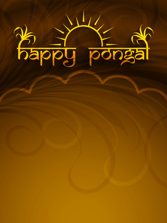 india food: Elegant background design of Happy Pongal. Illustration
