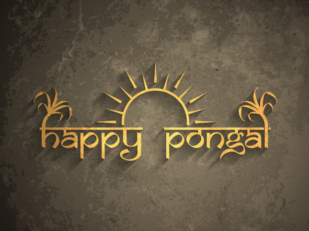 Elegant background design of Happy Pongal. Vector