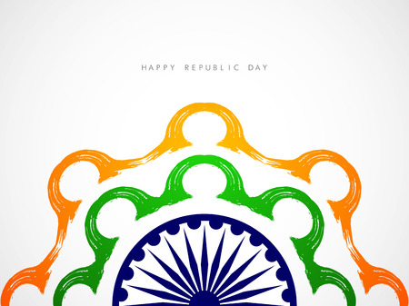 green day: Creative Indian flag theme design element.