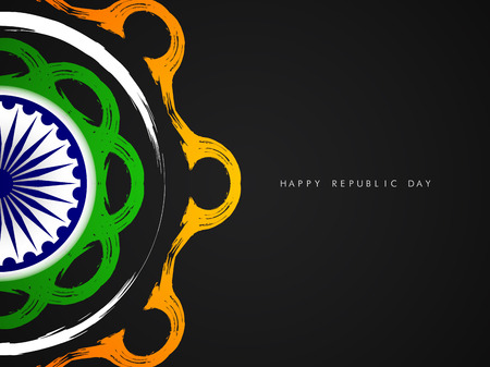 Beautiful Indian flag theme card design. Vector