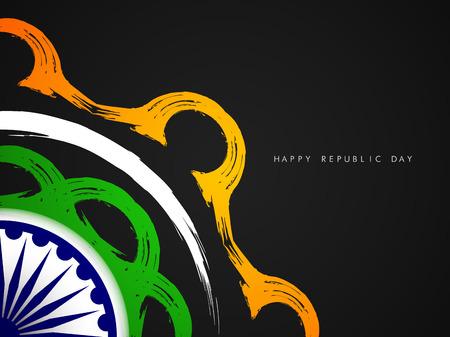 Beautiful Indian flag theme card design.