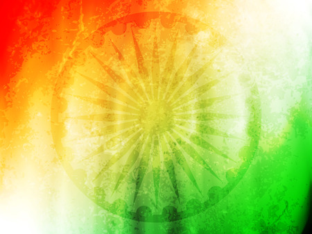 Beautiful Indian flag theme card design.