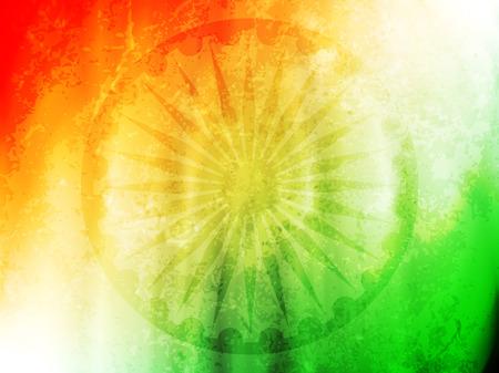 bandera de LA INDIA: Diseño de la tarjeta tema de la bandera india hermosa. Vectores