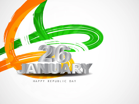 26: Beautiful Indian flag theme card design.