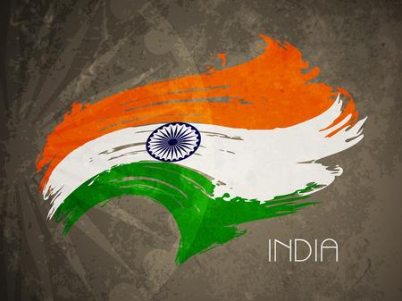 bandera de la india: Dise�o de fondo de tema de la bandera india Creative. Vectores