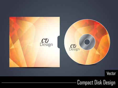 cd cover: Presentation of colorful vector cd cover design.
