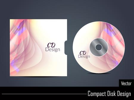 cd label: Presentation of colorful vector cd cover design.