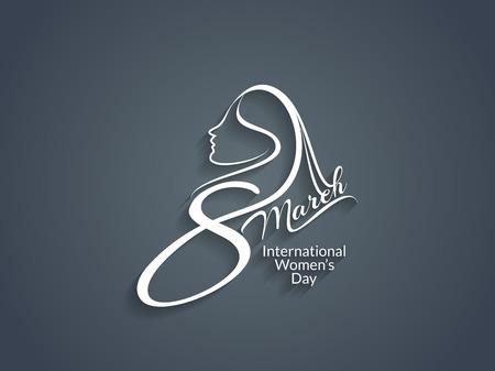 Diseño del texto hermoso para el día de las mujeres