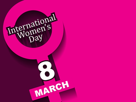Creative background design for womens day Illustration