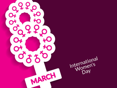 freedom woman: Creative background design for womens day Illustration