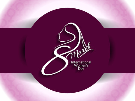 Creative background design for womens day Ilustracja