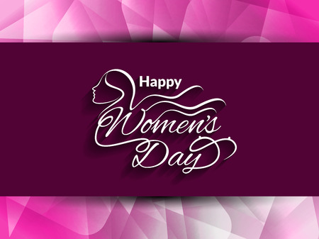 woman face: Creative background design for womens day Illustration