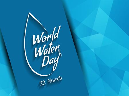 Agua Mundial de diseño de fondo de días.