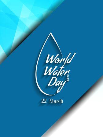 Agua Mundial de diseño de fondo de días. Ilustración de vector
