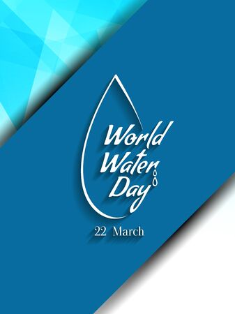 World water day background design.