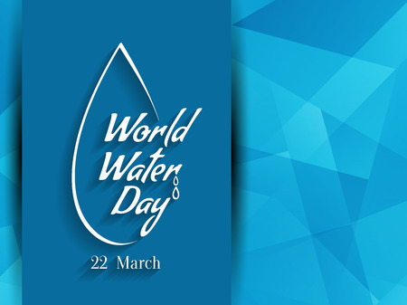 water recycling: World water day background design.