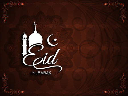 mubarak: Eid mubarak background design Illustration