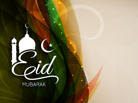 Eid mubarak background design Illustration