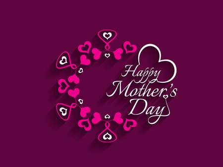 happy people white background: Beautiful vector background design for Mothers day Illustration