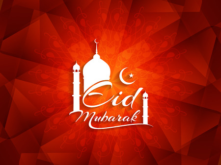 mubarak: Elegant Eid Mubarak background design.
